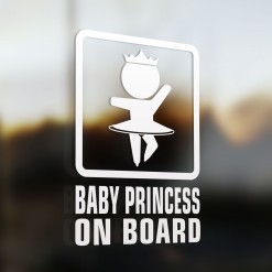 Baby princess on board car sign