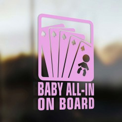 Baby all in on board Car Sticker