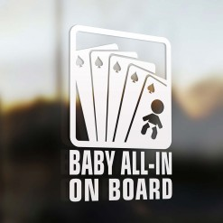 Baby all in on board sign