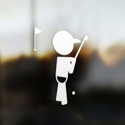 Family boy golfer sticker