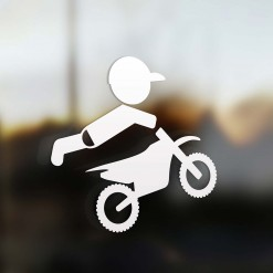Family boy sticker motocross rider
