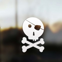 Family boy pirate sticker