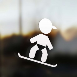 Family Boy snowboarder car Sticker