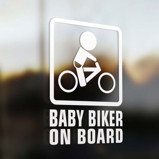 Baby biker on board sign