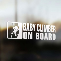 Baby climber on board car sticker