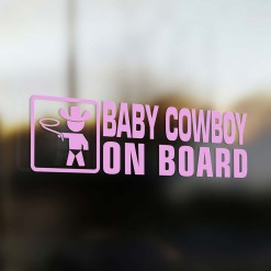 Baby cowboy on board car sticker
