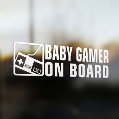 Baby gamer on board car sticker