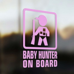Baby Hunter on board car sticker