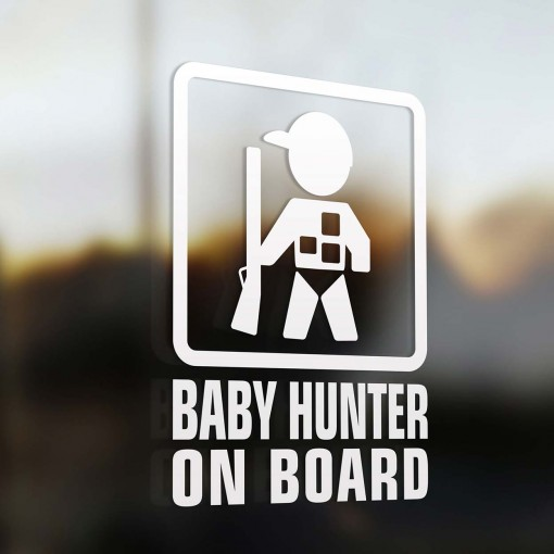 Baby hunter on board car sign