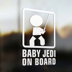 Baby jedi on board car sign