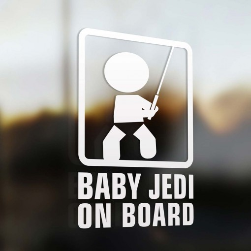 Baby jedi on board sign