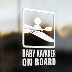 Baby kayaker on board car sign