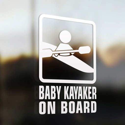 Baby kayaker on board sign