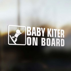 Baby kiter on board car sticker
