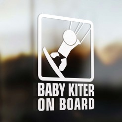 Baby kiter on board sign