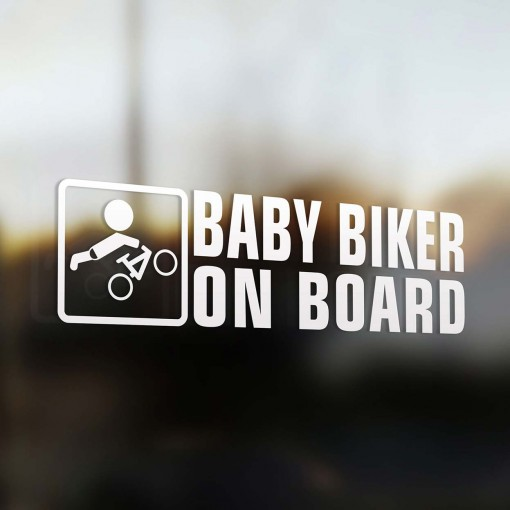 baby mountain bike on board sticker