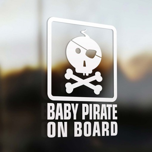 Baby pirate on board sign