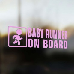 Baby runner on board car sticker