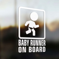 Baby runner on board car sign