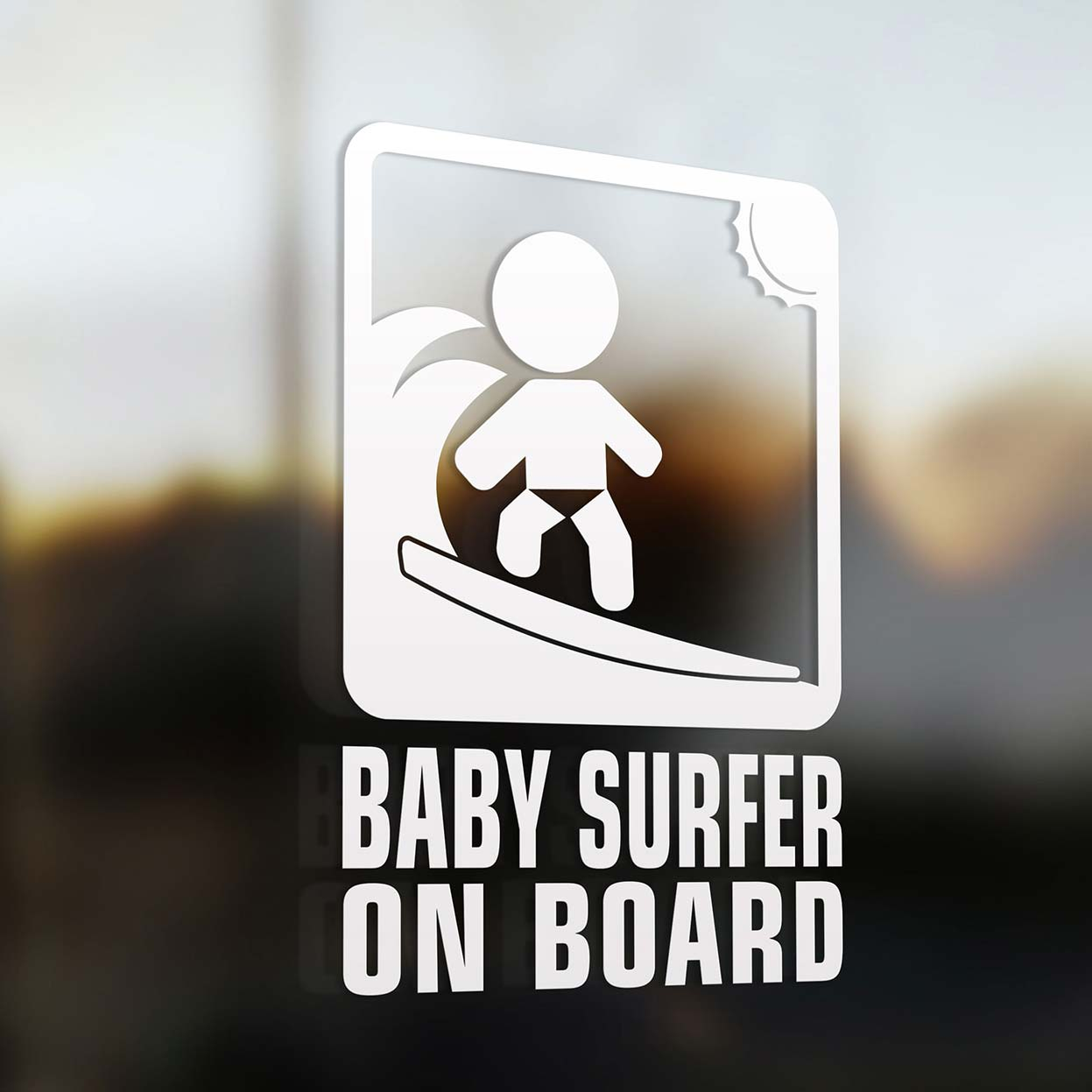 Baby Surfer On Board Sign Baby Onboard Com