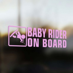 Baby wakeboard rider on board car sticker