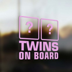 Twins on board sticker pink