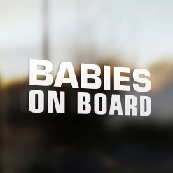 Babies on board Car Sticker