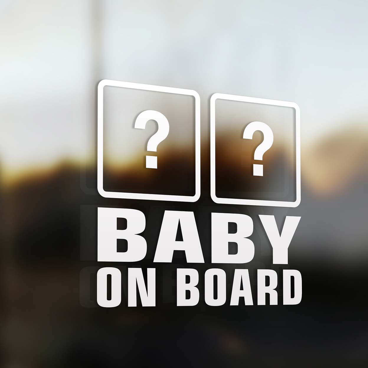 Car stickers design your own - Double Baby On Board Car Sticker