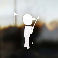 Family dad sticker golfer