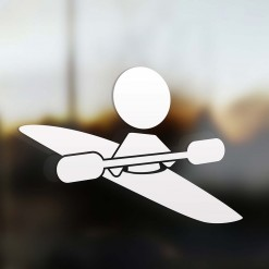 Family dad sticker kayaker