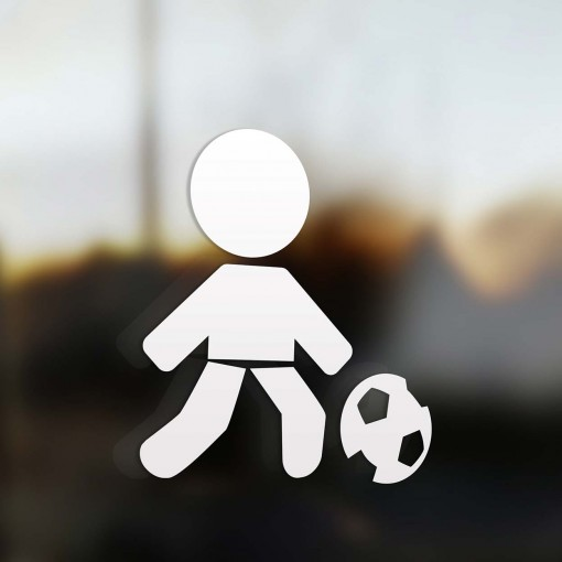 Family dad soccer player sticker