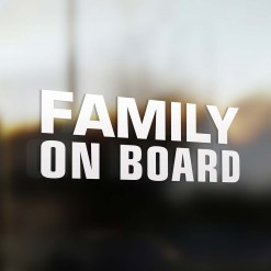 Family on board sticker