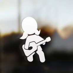 Family girl guitarist sticker