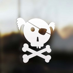 Family girl pirate sticker