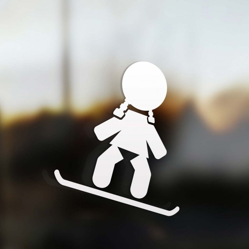 Family Girl snowboard rider sticker