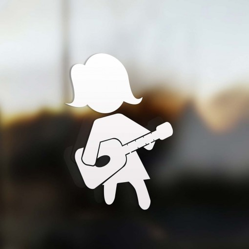 Family Mom guitarist sticker