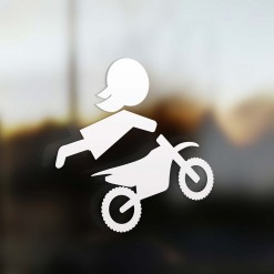 Family Mom sticker motocross rider
