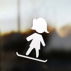 Family Mom sticker snowboard rider