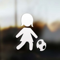 Family Mom sticker soccer player