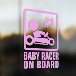 Baby racer on board car sticker