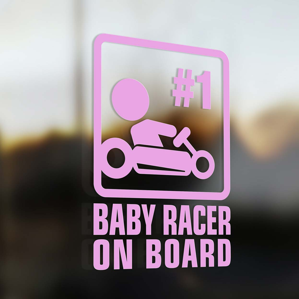 Baby Racer On Board Sign Baby Onboard Com