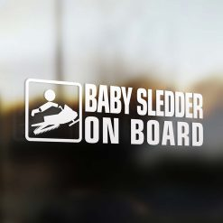 Baby sledder on board car sticker