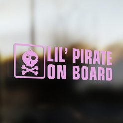 Lil' pirate on board car sticker